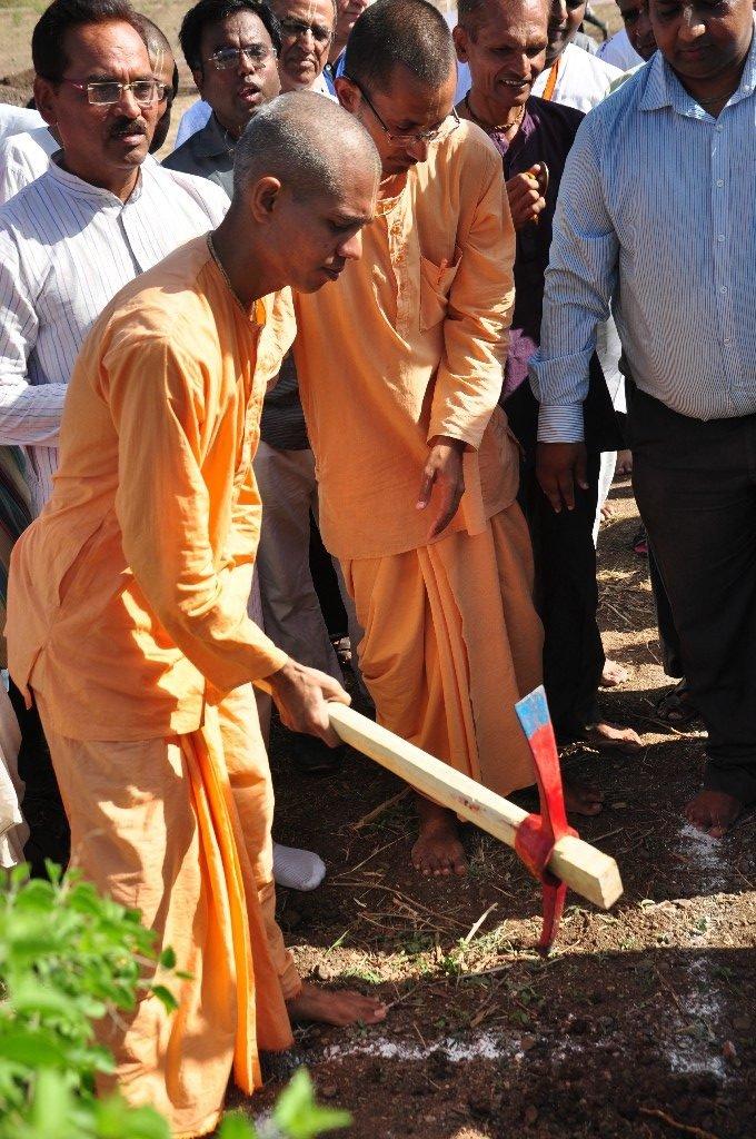 iskcon vecc temple aurangabad construction start 40