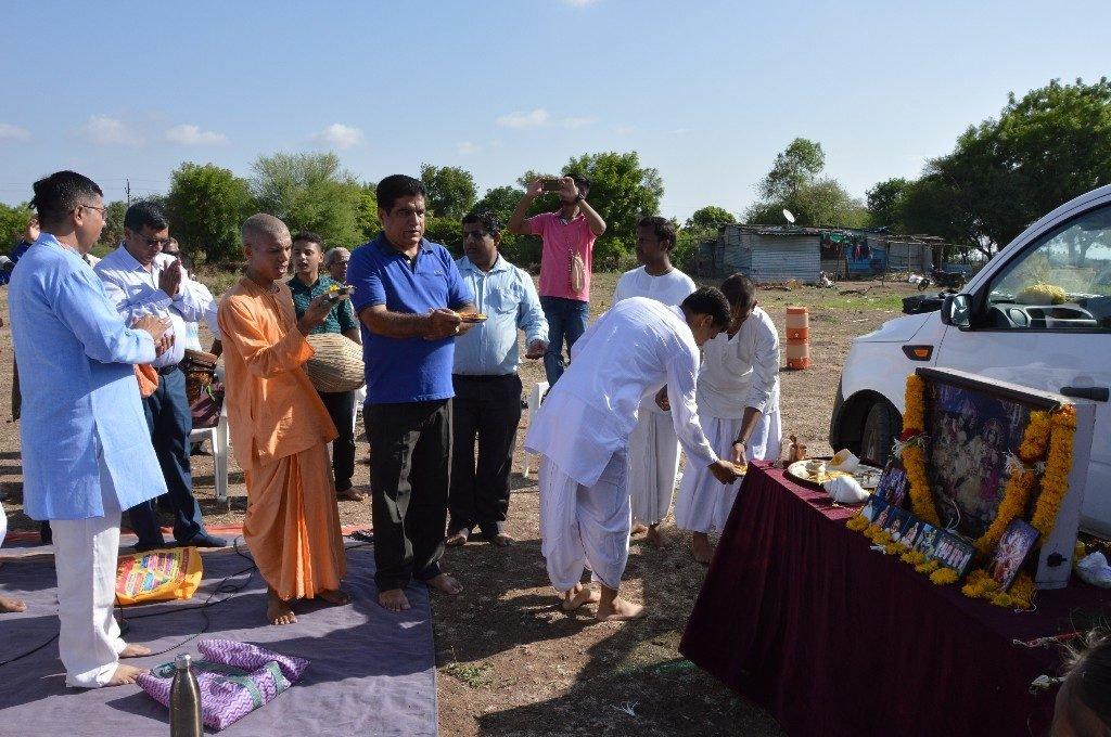 iskcon vecc temple aurangabad construction start 12