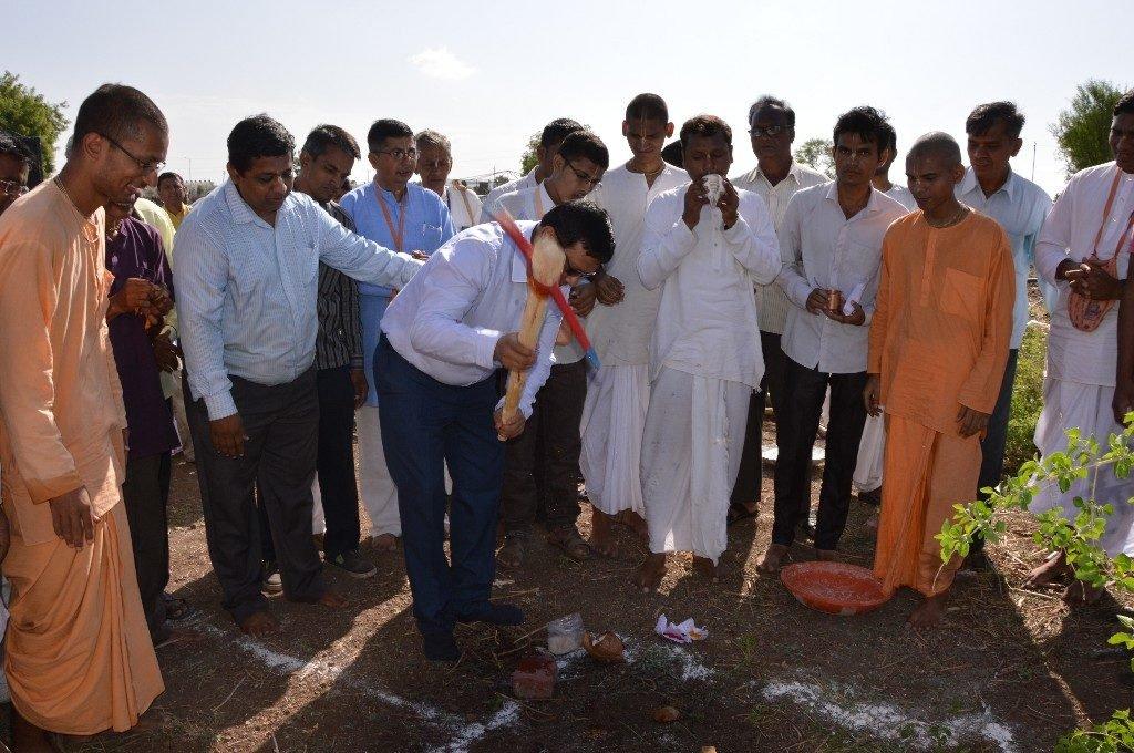 iskcon vecc temple aurangabad construction start 6