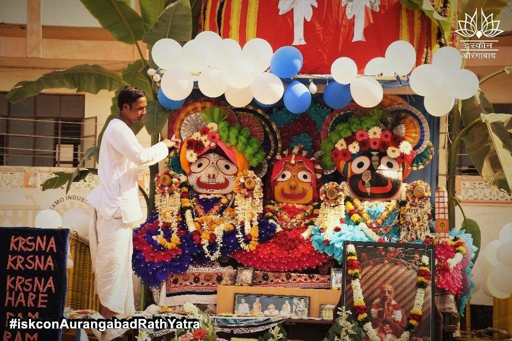 iskcon aurangabad rath yatra festival january 2019 16