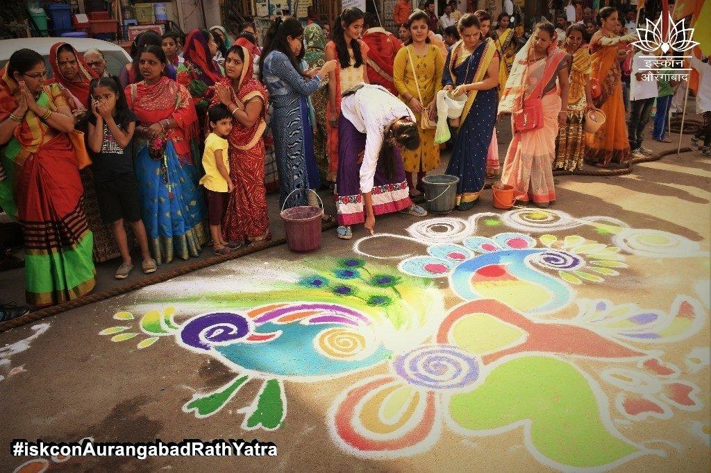 iskcon aurangabad rath yatra festival january 2019 17