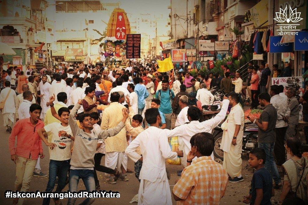 iskcon aurangabad rath yatra festival january 2019 22