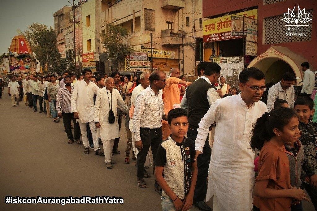 iskcon aurangabad rath yatra festival january 2019 31