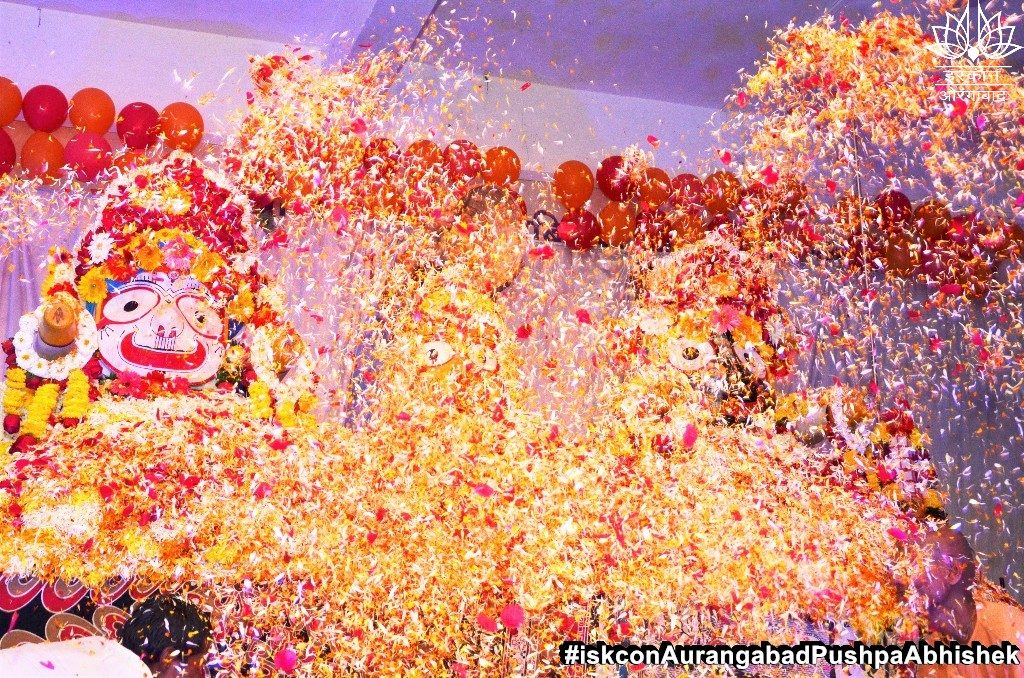 ISKCON Aurangabad Pushpa Abhishek Festival 2019 20