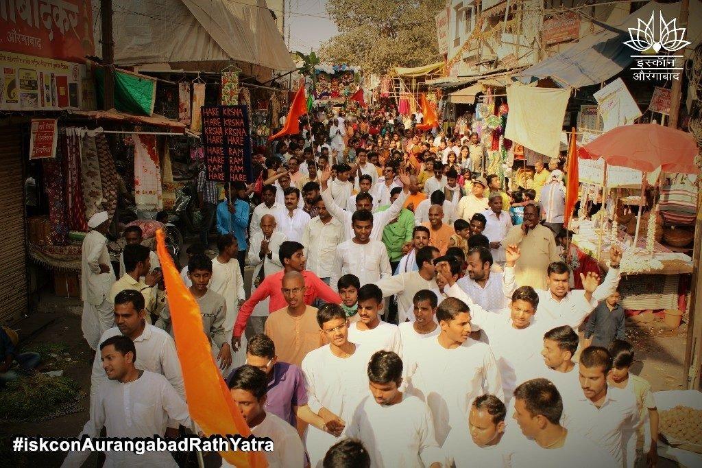 iskcon aurangabad rath yatra festival january 2019 12