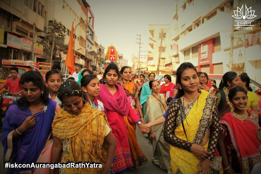 iskcon aurangabad rath yatra festival january 2019 13